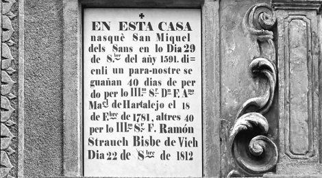 Miquel dels Sants, Vic, Osona, capella, barroc, indulgència, pecat