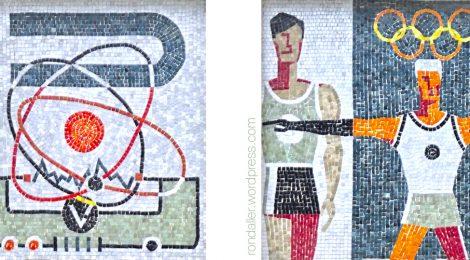 Mosaic, Sant Josep de Calassanç, Institut Broggi, Barcelona