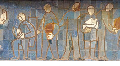 Vida-Grau, Aguadé, mural, ceramista, ceràmic, Arenys de Mar, maresme