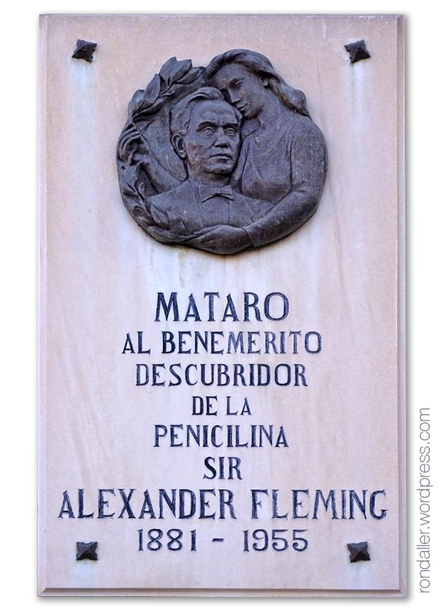 Monument a Fleming a Mataró.