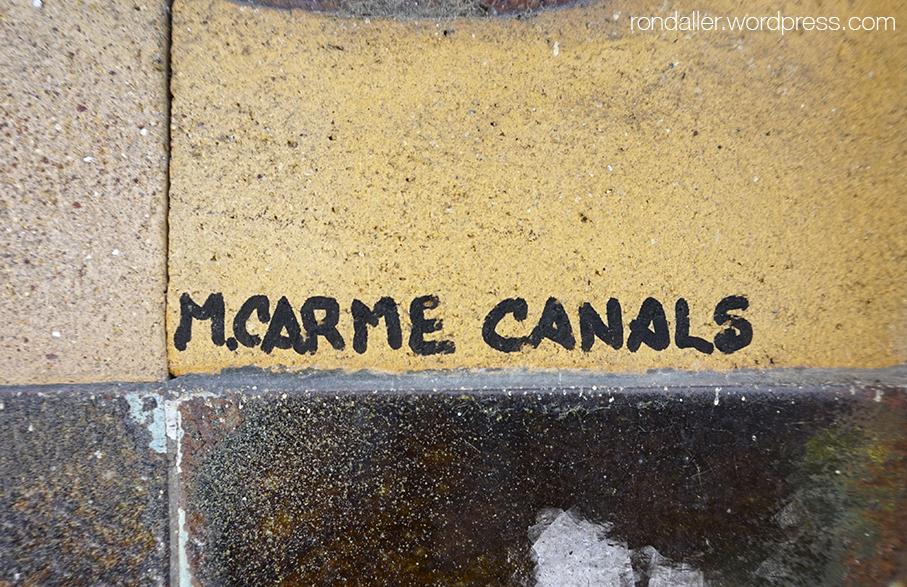 Signatura de Carme Canals.