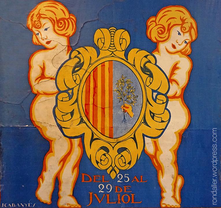 Detall del cartell de les Santes de 1921 realitzat per Josep Cabanyes.