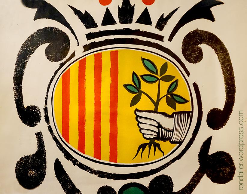Escut de Mataró al cartell de Les Santes de 1966 realitzat per Josep Maria Rovira i Brull.