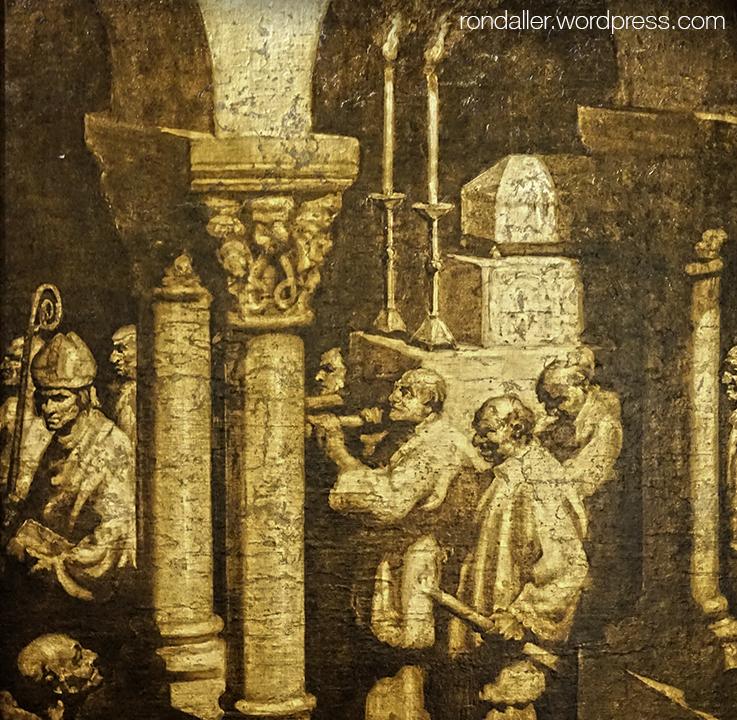 Pintura de Miquel Massot que representa el trasllat de les restes de Juliana i Semproniana.
