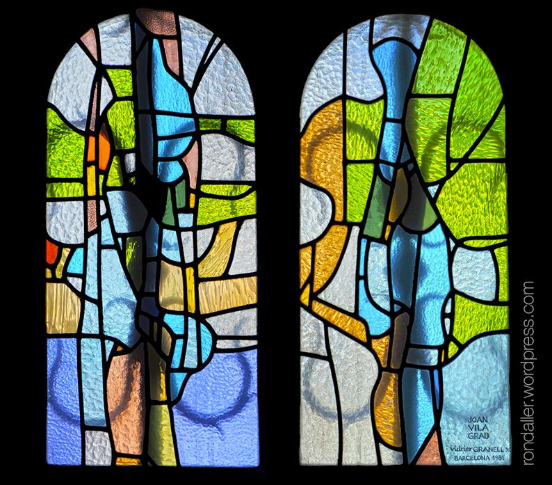 Església de Sant Pere Màrtir d'Escaldes-Engordany. Vitralls realitzats per Joan Vila Grau.