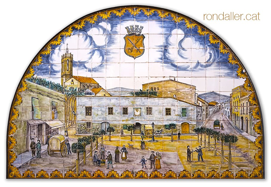 Joan Baptista Guivernau. Mural ceràmic de la font del Pou del Comú del Prat de Llobregat.
