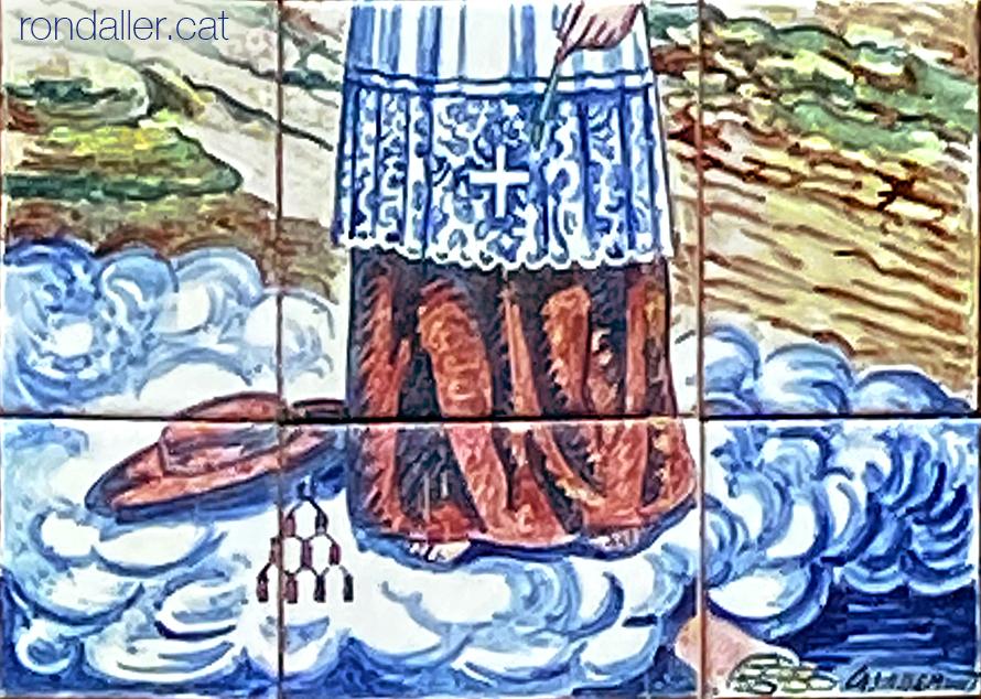 Plafó realitzat pel ceramista Modest Casademunt a Vilassar de Mar.