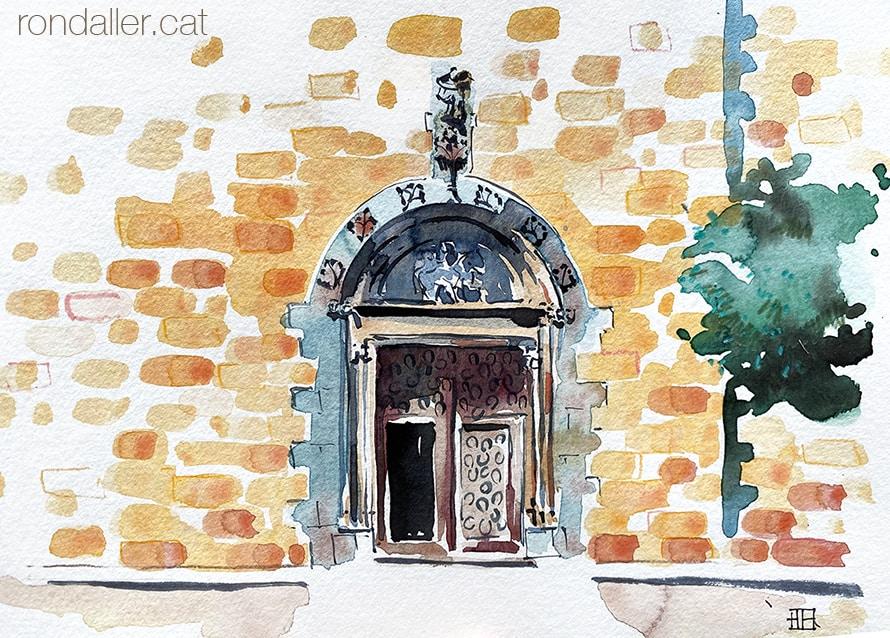 Portalades medievals del Maresme. Església de Sant Martí d'Arenys de Munt (Maresme).
