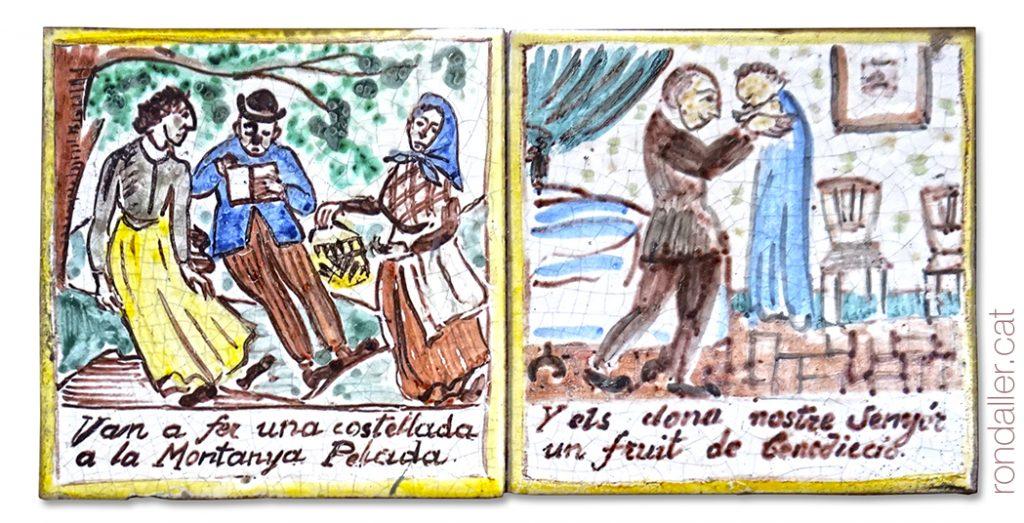 Rajoles de lAuca del Senyor Esteve al carrer Petritxol, realitzades per Jordi Aguadé.