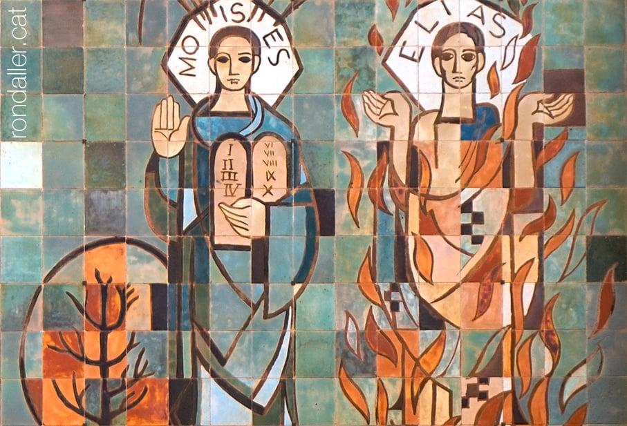 Mosaic de Santa Eulàlia d'Esparreguera, realitzat el 1950 pel ceramista Enric Serra i Abella.
