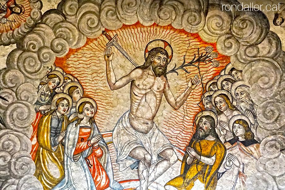 Escenes apocalíptiques a les esglésies araneses. Santa Maria d'Arties a la Vall d'Aran.