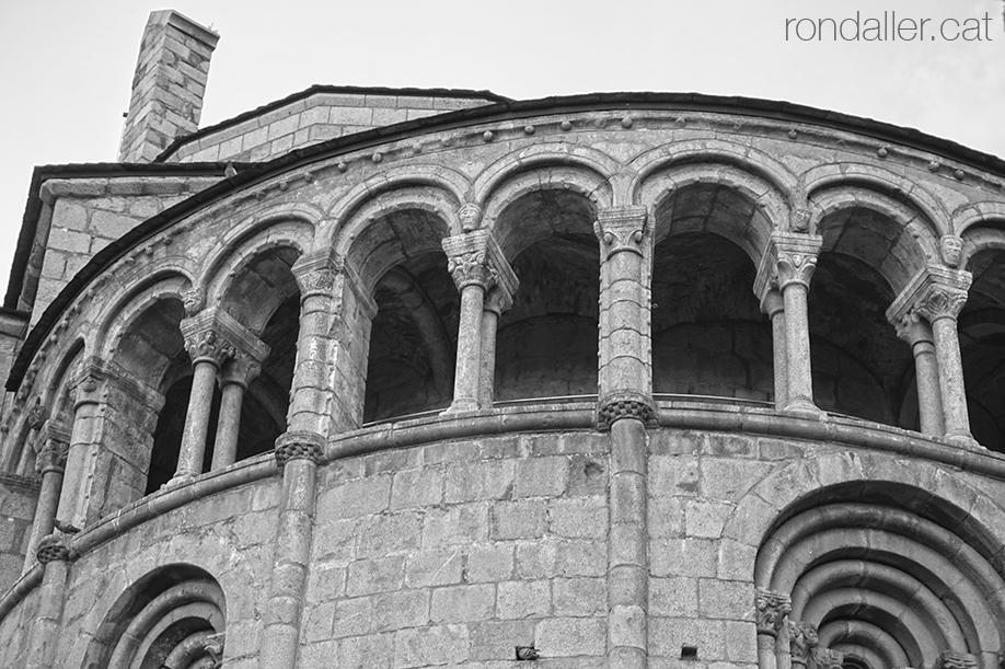 Absis de la catedral romànica de la Seu d'Urgell (Alt Urgell).