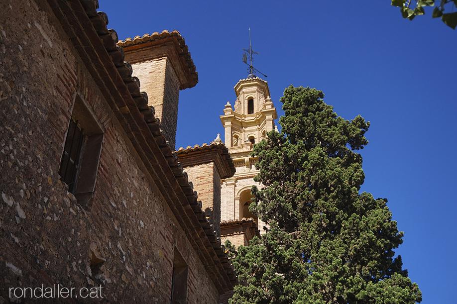 Església de Sant Honorat de Vinalesa, a l'Horta Nord de València. El campanar.