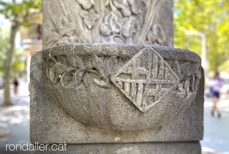 Font de la Granota de Barcelona, realitzada el 1912 per Josep Campeny i Santamaria.