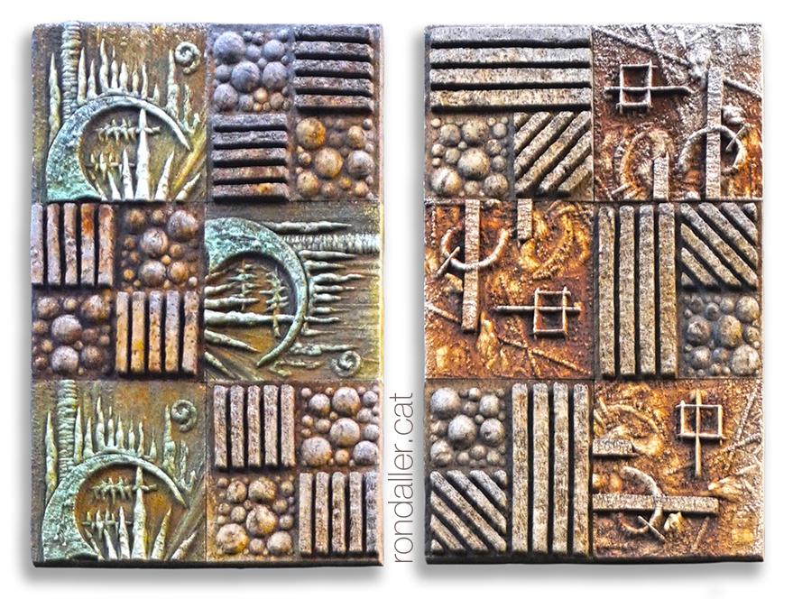 Mosaic dels anys setanta a l'avinguda de les Drassanes de Barcelona, probablement realitzat per Pedro Llorente Brieva.