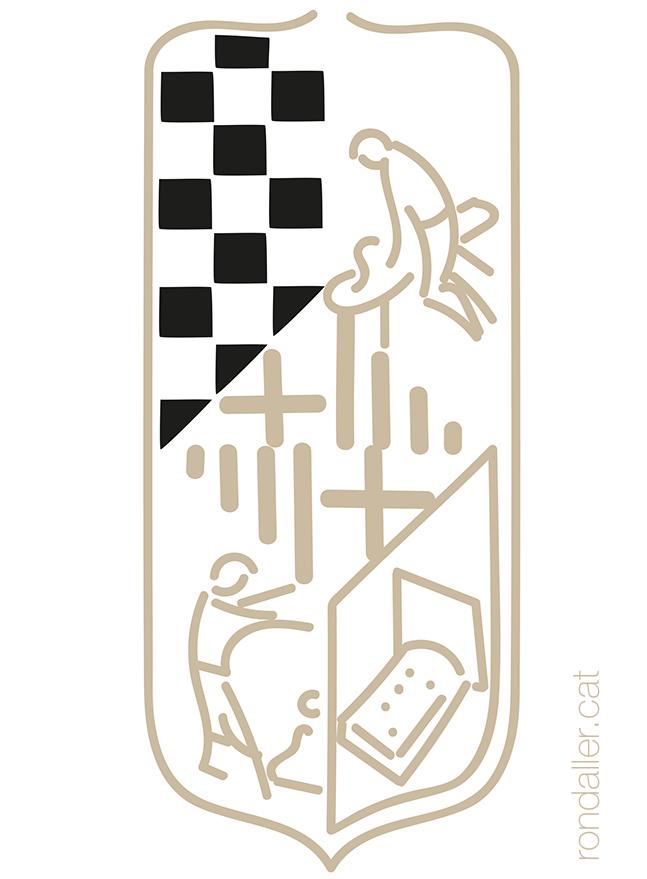 Dibuix de l'antiga bandera del Gremi d'Industrials Matalassers de Barcelona.