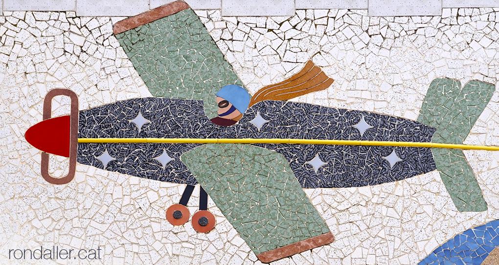 Art insòlit a Palafolls. Mosaic de trencadís realitzat per Narcís Ribas