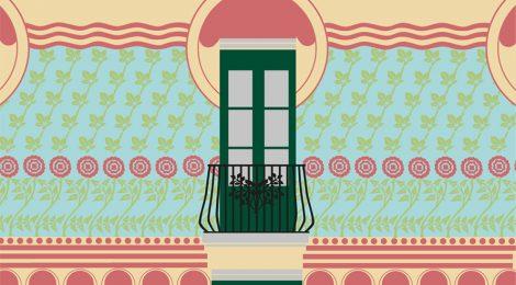 Recreació dels esgrafiats de la façana realitzada per Jeroni Martorell.