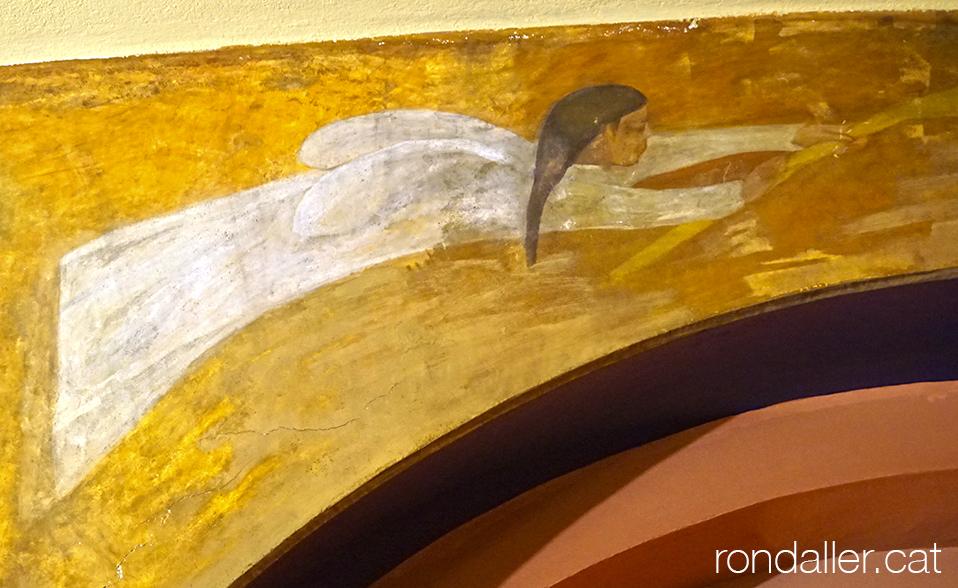 Els Sants Màrtirs de Vilassar de Mar. Pintura mural de Leonci Quera.