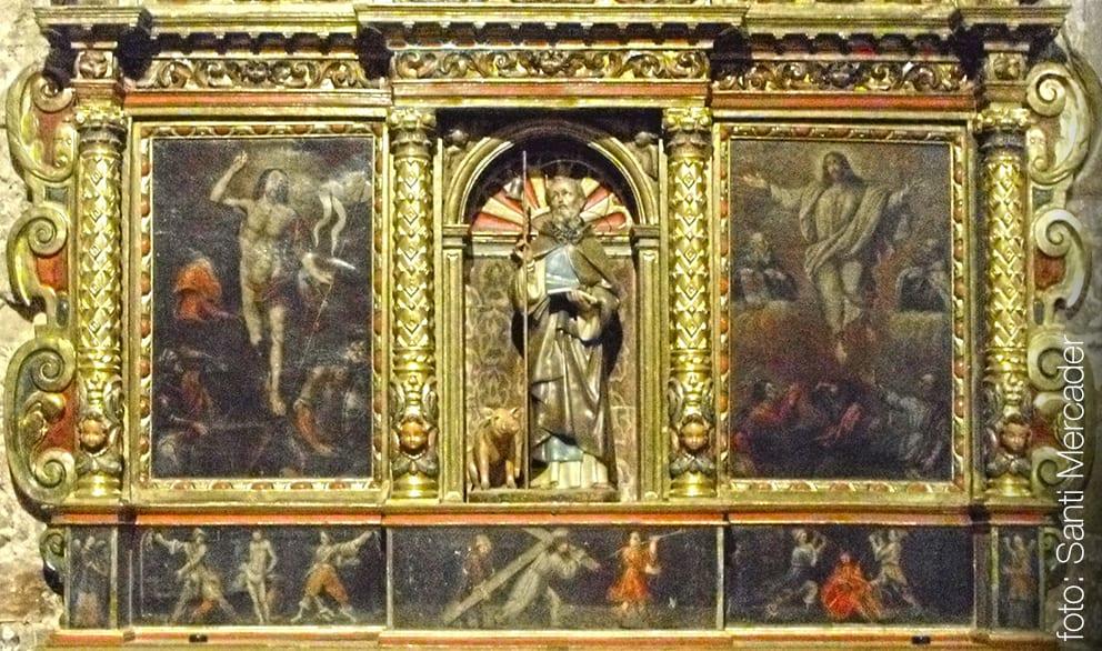 Retaule barroc de Sant Salvador de Vilalleons del segle XVII.
