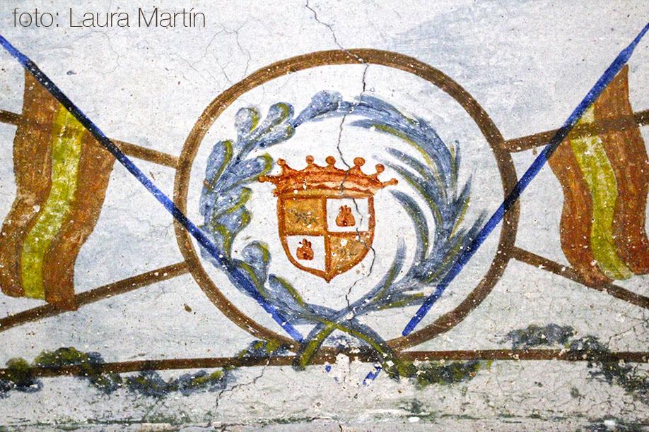 El Palau Berenguer de Bescanó. Escut nobiliari dels comtes de Berenguer.