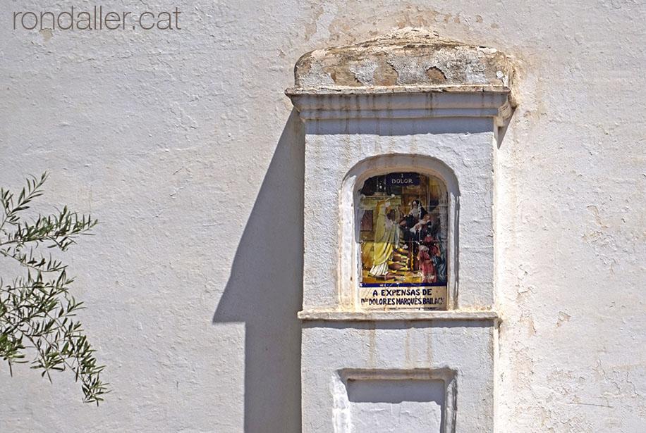Capelleta d'una estació del calvari d'Alfara del Patriarca.
