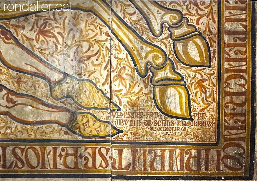 Detall de la signatura d'un socarrat al monestir de Santa Maria del Puig.