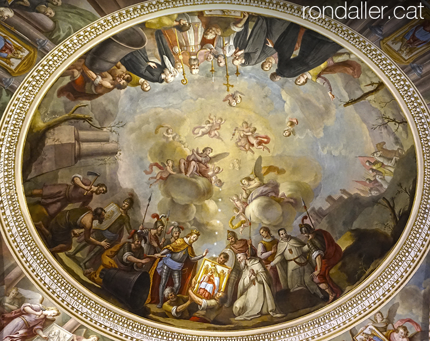 Pintura de la cúpula del cambril de la Verge del Reial Monestir de Santa Maria del Puig.