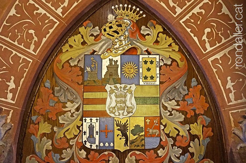 Escut heràldic del llinatge dels Sicart, propietaris del castell de Vila-seca.
