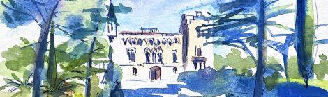 Aquarel·la del castell de Vila-seca, al Tarragonès.