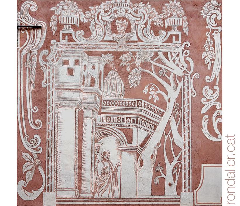 18 històries de Moià. Esgrafiats barrocs de Cal Bou.