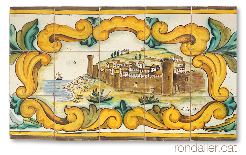 Plafó ceràmic de la pastisseria Tomàs de Tossa de Mar.