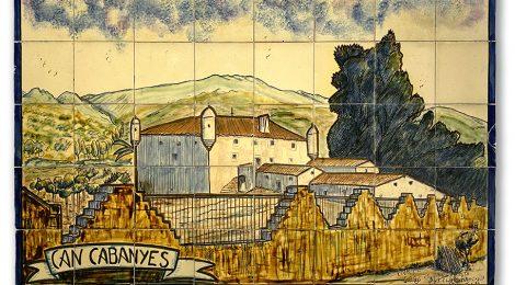 Mural ceràmic de Can Cabanyes realitzat per Enric Segú el 1975.