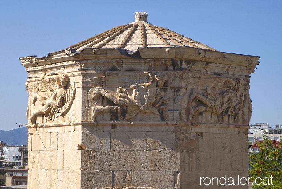 6 descobertes d'Atenes. La Torre dels Vents, edifici del segle I aC dins l'àgora.