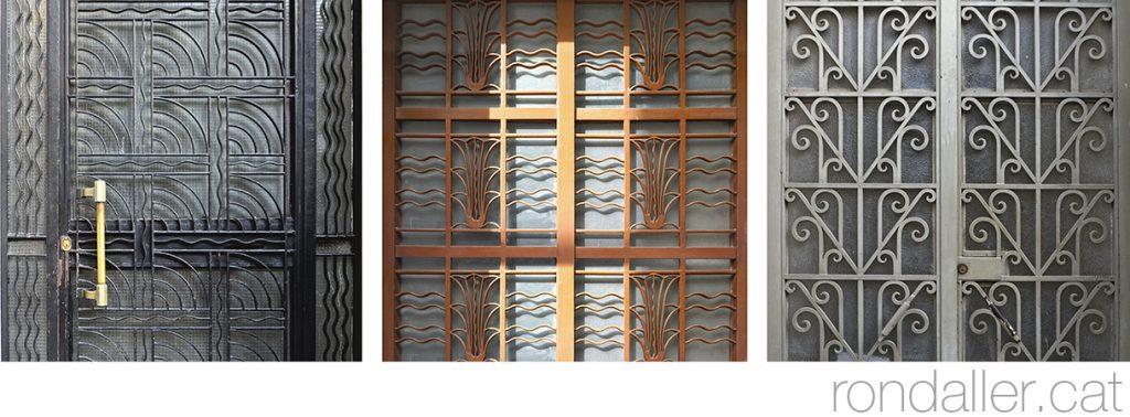 6 descobertes d'Atenes. Reixes de portes d'estil art-déco al barri històric de la Plaka.