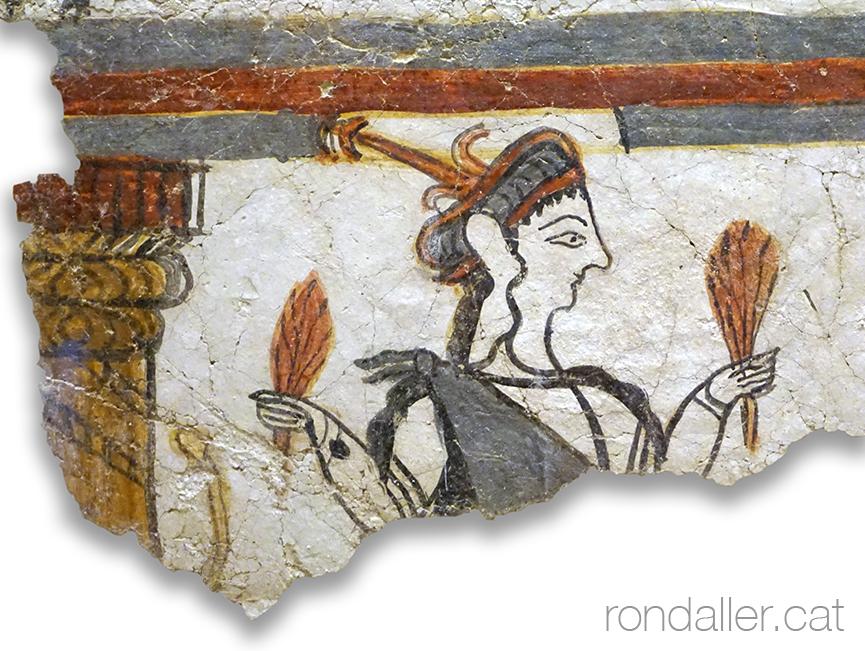 Pintura al fresc exposada al museu arqueològic de Micenes.