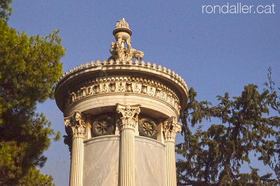 Primer Cementiri d'Atenes. Panteó que reprodueix la Llanterna de Lisícrat.