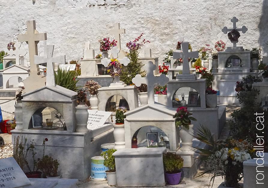 Cementiri ortodox de Míkonos.