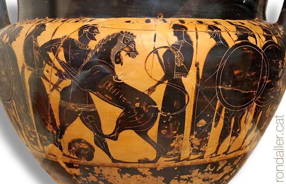 Fauna a la Grècia clàssica. Peça de ceràmica amb la representació d'un lleó.